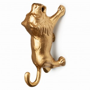 Wieszak LINO LION gold
