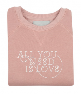 Bluza ALL YOU NEED IS LOVE faded blush Bob&Blossom