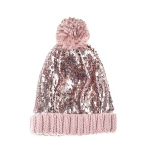 Czapka SEQUIN BOBBLE PINK