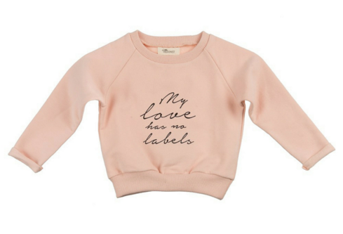 Bluza Little Hedonist MY LOVE HAS NO LABELS Pink